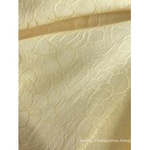 Tissu de robes de jacquard de viscose 100% de couleur pure élégante