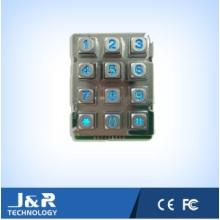 Squared Phone Keypad mit Hintergrundbeleuchtung, robuste Telefon-Tastatur, Metall-Tastatur