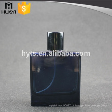 Vidro de garrafa cosmético da cor 100ml azul para o perfume