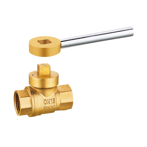 J2043 brass magnetic lockable gas ball valve