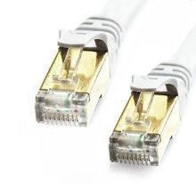 Câble de réseau LAN Ethernet haute vitesse Cat7 plaqué or RJ45