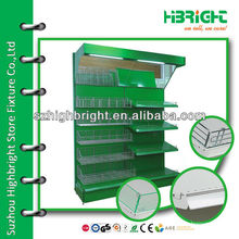 green cloured coating wall unit gondola stand for vegetables