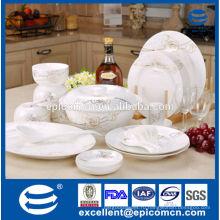 Элегантные роскошные золотые розы дизайн фарфора тонкая фарфоровая посуда