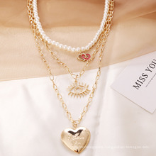 Chinese Supplier Factory Spot Fashion Women Multi Layer Pearl Necklace