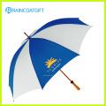 Parapluie droit en bois d'ouverture automatique de poignée pour la promotion