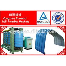 Máquina prensadora semiautomática delantera de la hoja de techumbre