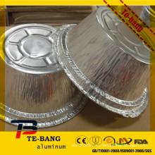 Manufacturas de platos de aluminio redondos de la hoja al restaurante para el embalaje del alimento