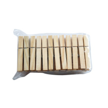 Großhandel Hängende Clips Mini Holz Wäscheklammern Bambuswäscheklammern