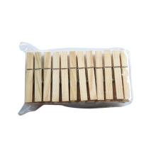 Clipes de suspensão por atacado Mini madeira Clothes Pegs Clothespins de bambu