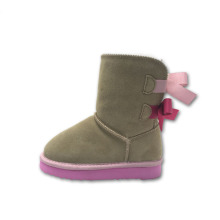 Cute Girl Brown Winter Leather Boots for Sale