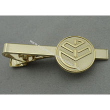 Aluminum, Stainless Steel, Copper Stamping Personalized Tie Bar, Collar Tie Bars With Gold Plating