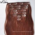 8A Бразильский Реми необработанные Девы волос клип в наращивание волос 200г конфеты Скручиваемость человеческих ткачество волосы