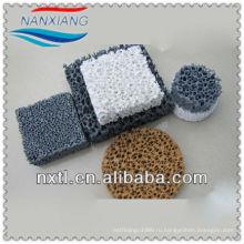 круглый фильтр пены карбида кремния керамические пены фильтр