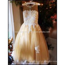 Vestidos de fiesta de baile de boda Puffy Diamond Flower Girl vestido partido vestido de fiesta para niñas MF900