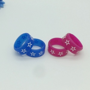 Wedding Star Printing Silicone Rings