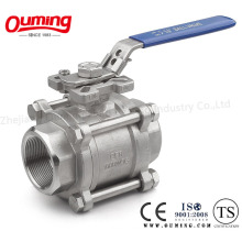 3PC Threaded Ball Valve with Direct Mounting Pad M3 Type