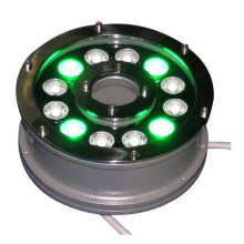 china supplier new product 100-240v 12V 24V 9w 12w ip65 RGB underwater light for boat