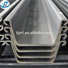 Tipo U da chapa de aço laminada a alta temperatura da largura de 400mm U