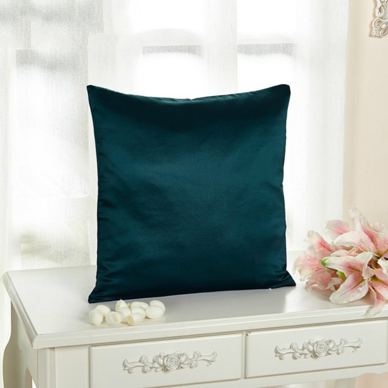 Dark Teal Silk Pillowcase