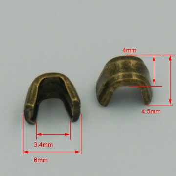 Fashion Zipper Antique Brass Metal Stop