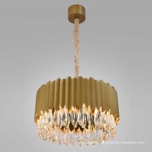 Large Luxury Modern gold K9 Crystal Chandelier Pendant Light for Hotel Lobby Home