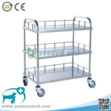 Medizinischer Veterinärklinik-304 Edelstahl-chirurgischer Instrument-Wagen
