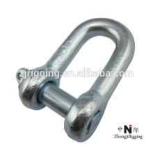 Rigging hardware grillete de acero al carbono D con alta resistencia