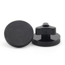 Rubber coated pot magnet internal thread magnetic base mount bracket sucker holder