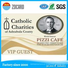 Cartões de identificação de plástico Material PVC Transparent Business Card