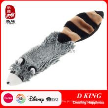 Brinquedos macios do animal de estimação do brinquedo do luxuoso feito sob encomenda