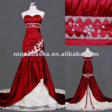 Sweetheart Neckline Boutique Mermaid Robe de mariée rouge