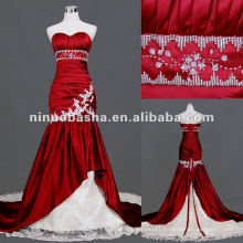 Sweetheart Neckline Boutique Mermaid Red Wedding Dress