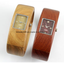 Hot Selling Wood Watch Ladies Bracelete de madeira Pulseira Relógios de pulso