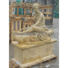 Statue en pierre sculptée sculpture en marbre avec grès en granit (SY-X1389)