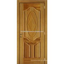Huecas chapado roble diseño agradable barniz Natural moldeada puerta