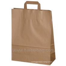 Flat Paper Handles Kraft Paper Bag (HBKR-2)