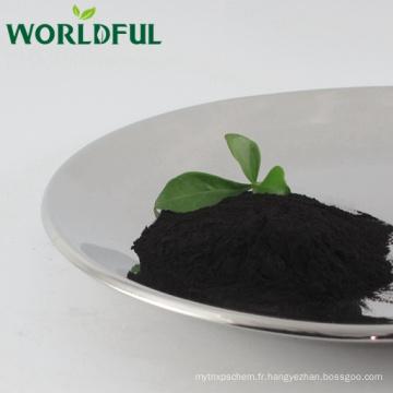 Acide fulvique minéral végétal naturel, engrais de poudre brillante de fulvate de potassium organique
