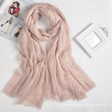 2017 new arrival hot sales cheap simple design ladies custom scarf logo muslim scarf hijab