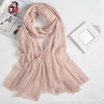 2017 nouvelle arrivée ventes chaudes pas cher conception simple dames foulard personnalisé logo musulman écharpe hijab