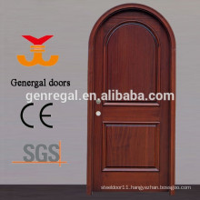 CE standard Painting solid arch wood door