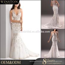 Vestido de casamento de saia de bolha hexagonal mais vendido