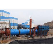 Secador rotatorio caliente del tambor del flujo de aire del serrín de la venta