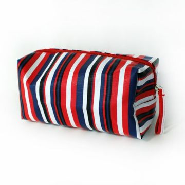 rainbow Color Stripe Square Cosmetic bags