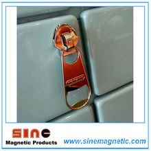 Mode Reißverschluss Portable Bier Flaschenöffner Kühlschrank Magnet