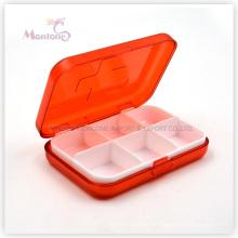 6 Grids Pill Box, Kunststoff Pill Box, 1 Weel Pill Box