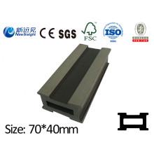 70X40mm PE WPC Joist WPC Quilha para WPC Decking / Revestimento Lhma046 com SGS CE Fsc ISO