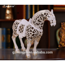Hollow horse resin crafts home decor high quality modern design hollow out horse figure
