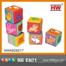 2015 nuevo diseño de felpa de juguete bebé bloques suaves