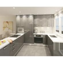 Foshan simple wood kitchen cabinet design from PRIMA