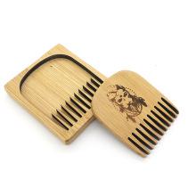 FQ marque nouveau design vente chaude poche bambou hommes barbe peigne